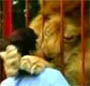 Comme c est mignon, un gros lion qui fait un gros calin calin a son maitre