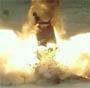 Explosion en slow motion d un bus detruit pas un missile :o