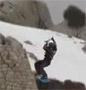 Il s envole en snowkite et a beaucoup de chance de s en sortir comme ca