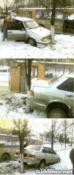 accident voiture arbre car