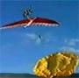 Fallait pas ouvrir son parachute au decollage !
