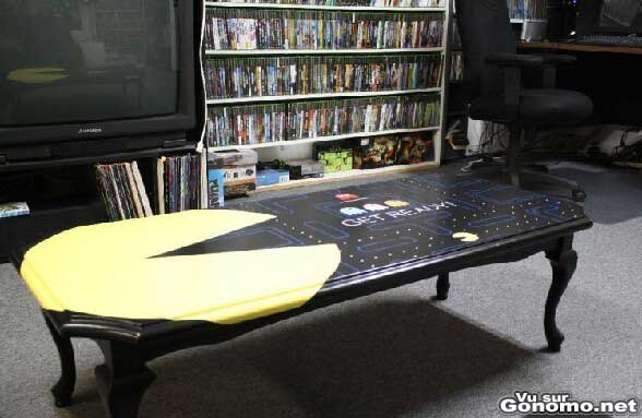 Une table passe Pacman. Yeah !