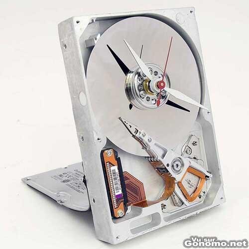 Recyclez votre disque dur en horloge ;)