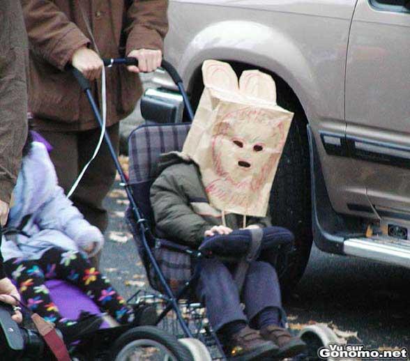 Brown baggin pour enfant avec quelques decorations ! lol