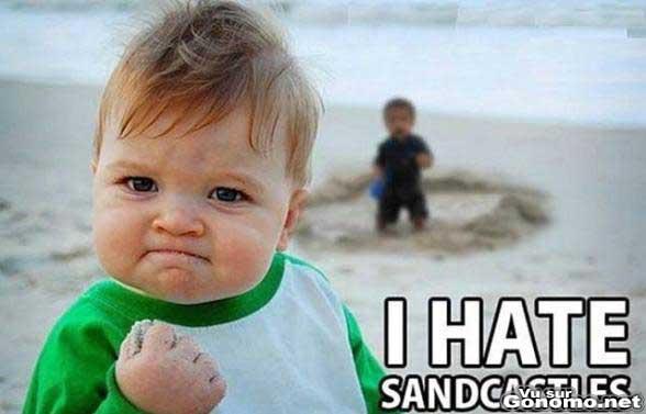 Je deteste les chateaux de sable grrr