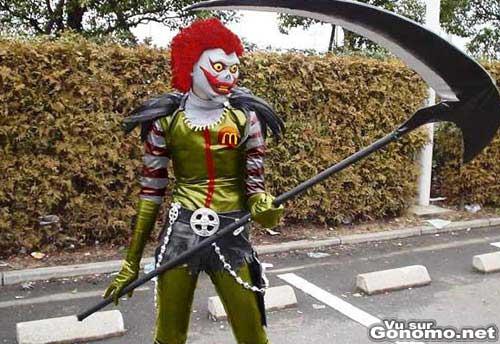 Ronald Mc Donald Devil : un mix entre Ronald et la mort ?