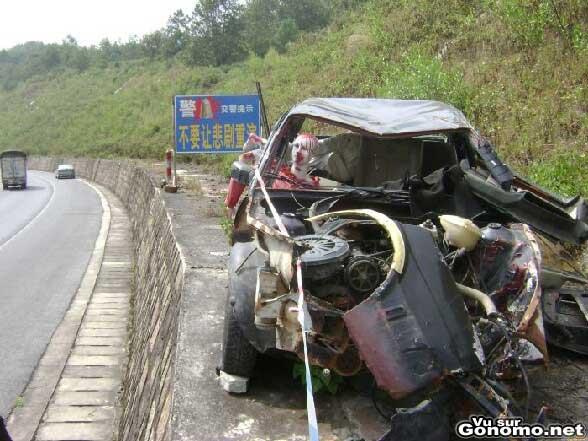 Un campagne choc de la securite routiere
