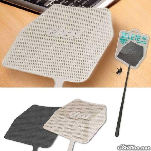 Tapette a mouches de geek en form de touche de clavier supprimer