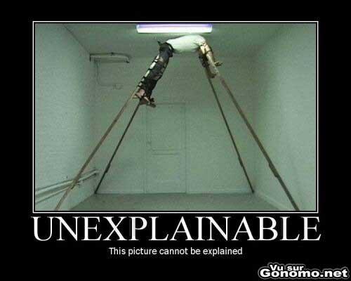 En effet, aucune explication possible !