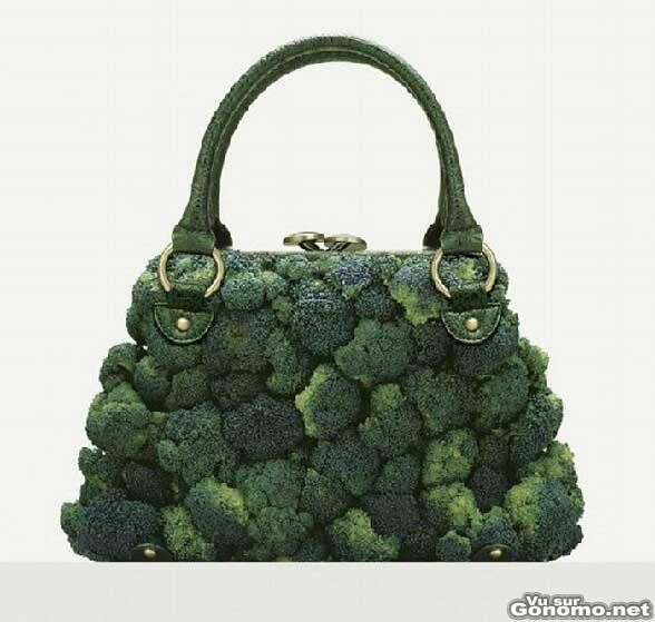 Sac a main bio : un sac a main naturel compose de plusieurs bouquets de brocoli