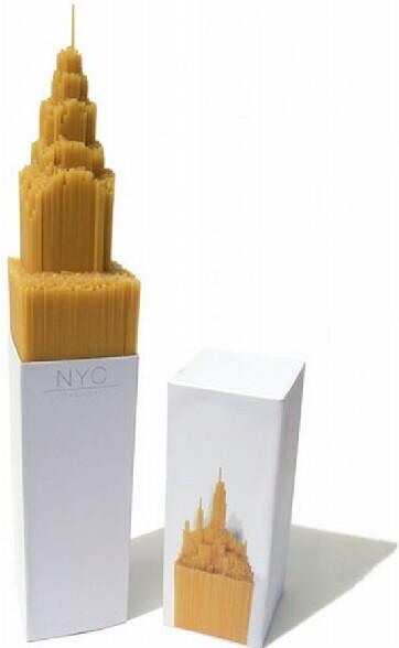 Des spaghettis qui ont la forme de l Empire State Building