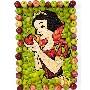 Un tableau de pommes representant ... Blanche Neige forcement !