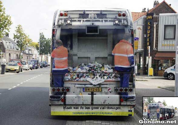 On croirait vraiment qu on est derriere un camion poubelle