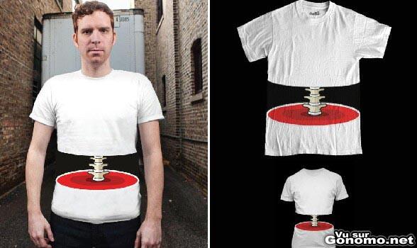 Illusion optique avec ce t-shirt qui laisse apparaitre votre colonne vertebrale