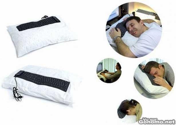 Accessoire geek : un coussin qui fait aussi clavier pour ceux qui s endorment devant leur pc