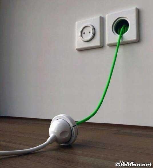 Innovation : une prise murale qui fait a la fois rallonge electrique
