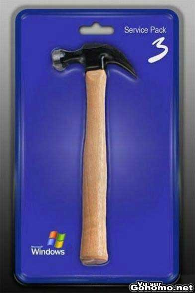 Windows service pack 3 lol