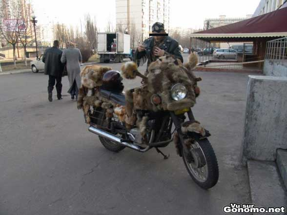 Une moto qui n aura pas froid