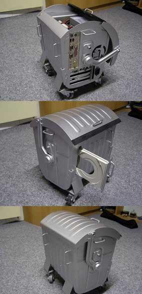 tuning de boitier d ordinateur insolite le pc poubelle. Black Bedroom Furniture Sets. Home Design Ideas