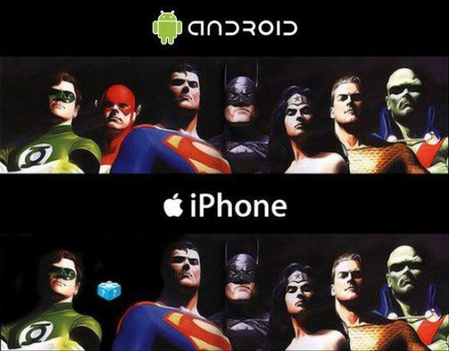 Android versus iPhone : excellente illustration de l absence de Flash sur l iPhone :)