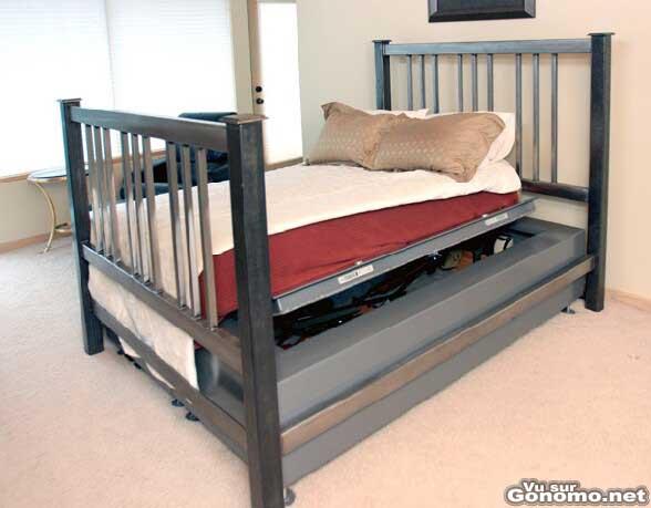 Un lit qui fait aussi coffre fort