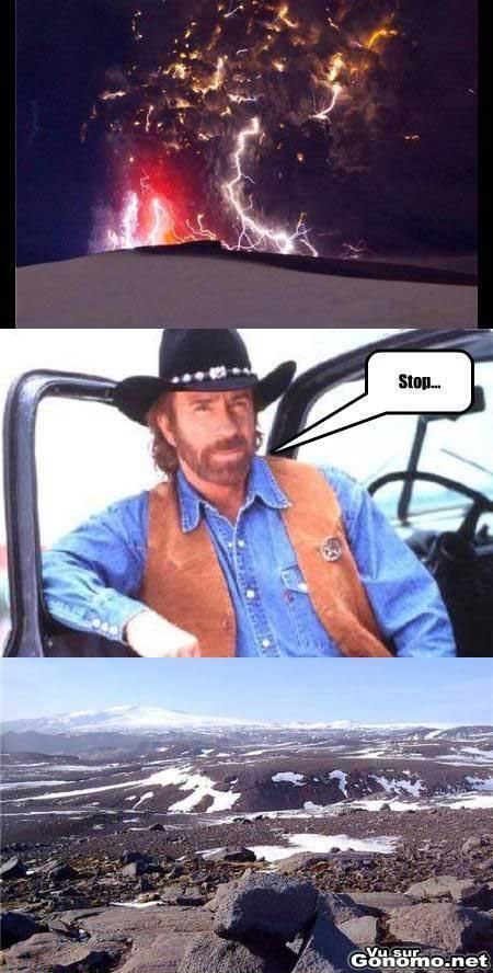Chuck Norris facts : Chuck Norris peut arreter l eruption du volcan islandais Eyjafjallajokull