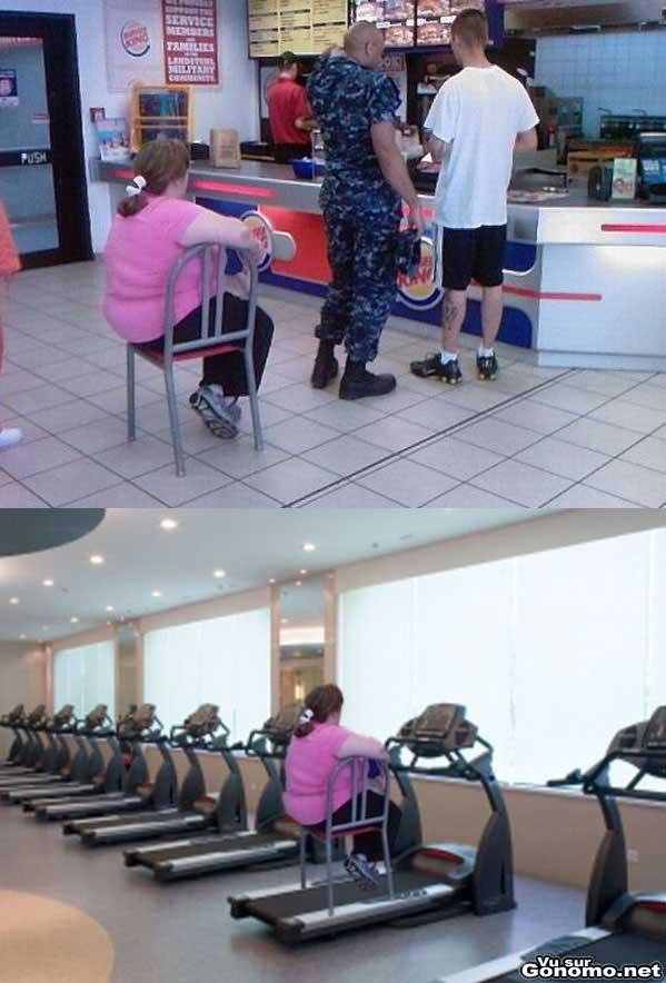 Femme saine et sportive : une alimentation equilibree et du sport sont la clef du succes :)