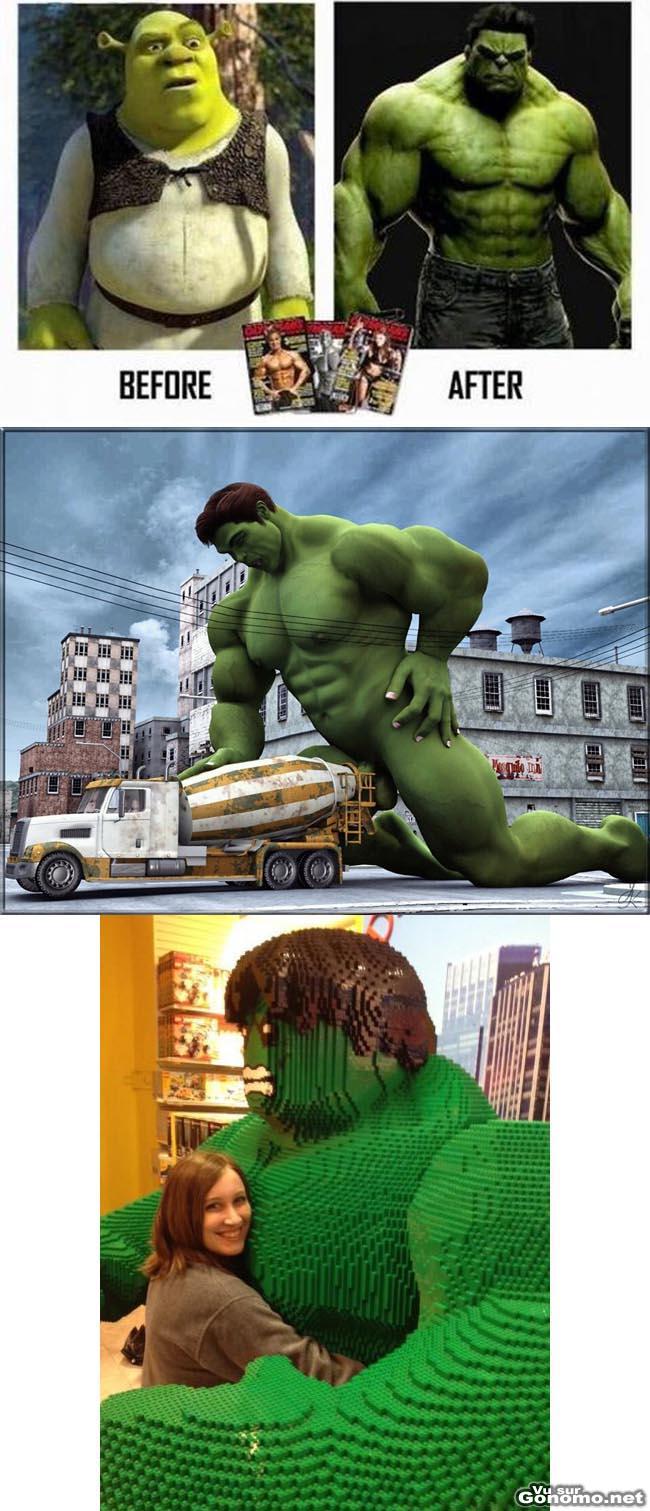 Mini compilation d images droles et insolites du celebre super-hero vert de Marvel !