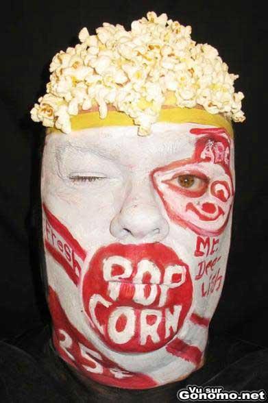 L homme popcorn !