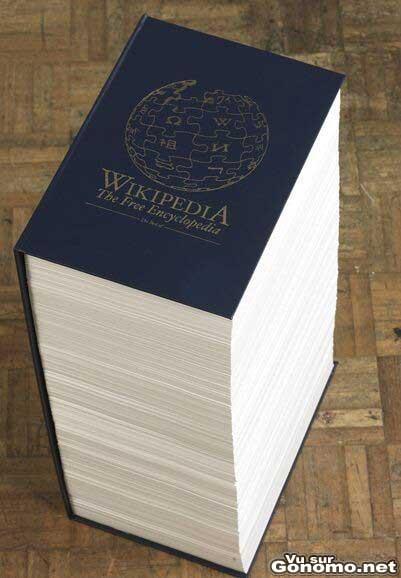 L encyclopedie Wikipedia en livre :o