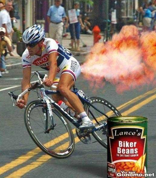 On a decouvert le secret d Armstrong : le gaz naturel :)