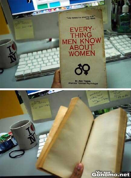 Tout ce que les hommes connaissent sur les femmes lol