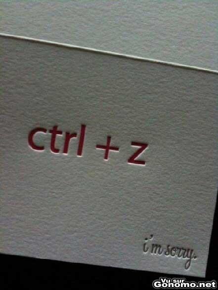Ctrl Z : une lettre d excuse de geek originale et concise