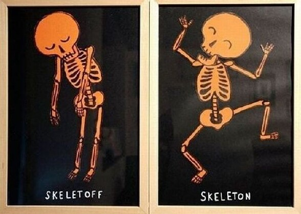 Affiche humoristique : skeletOFF et skeletON ! :)
