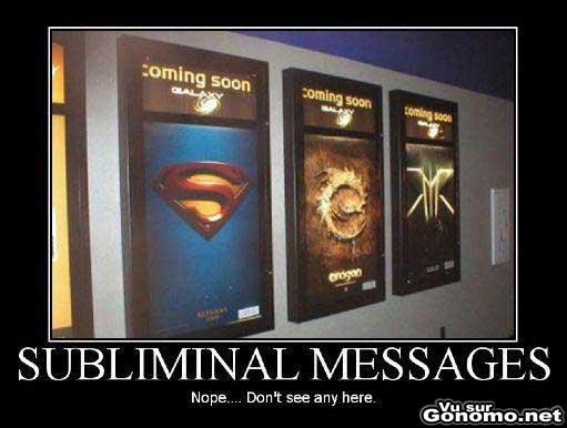 Un message subliminal !