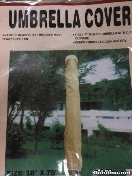 Une publicite pour une housse de protection de parasol :)