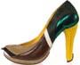 Des chaussures a talons custom aux couleurs de canards et cygnes