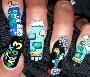 Des ongles vernis au couleurs de Mario et ses amis