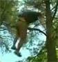 Il s explose les burnes sur une branche en tombant d un arbre !