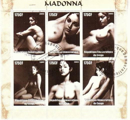 Madonna sur les timbres de la republique democratique du Congo