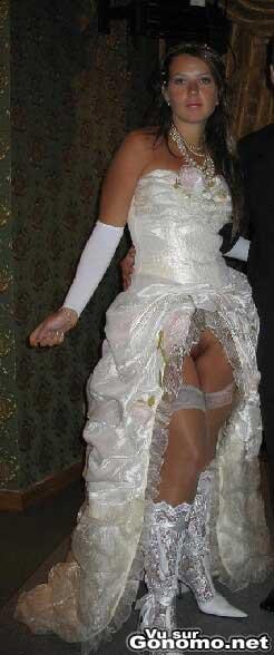 Mariee sans culotte : la mariee a envie de passer directement a la lune de miel