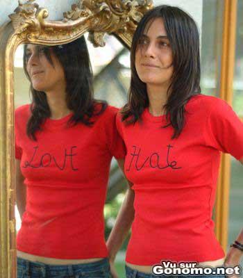 Love or Hate, aimer ou hair ? A vous de choisir avec ce t shirt ...
