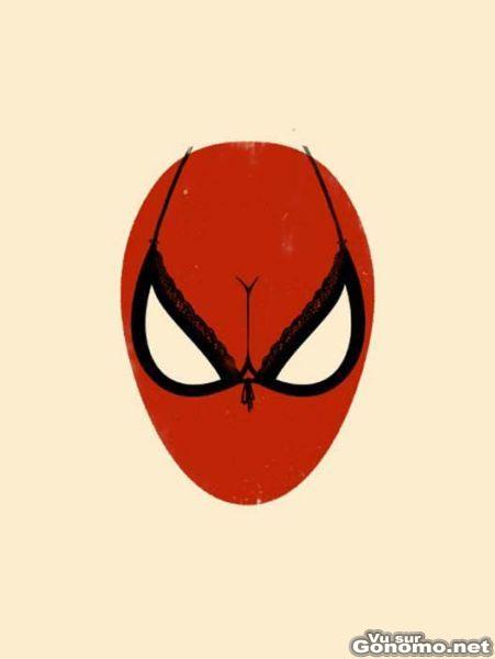 Le masque de Spiderman ne vous aura jamais paru aussi attirant ...