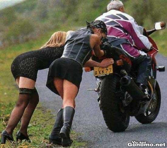 Qui a dit que les motard etaient des machos ?