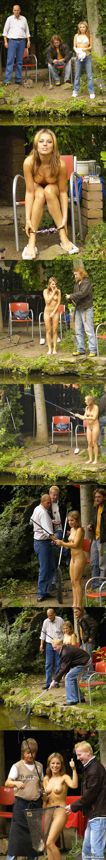 Pecheuse nue : une partie de peche avec une belle jeune femme a poil au bord de la riviere :p