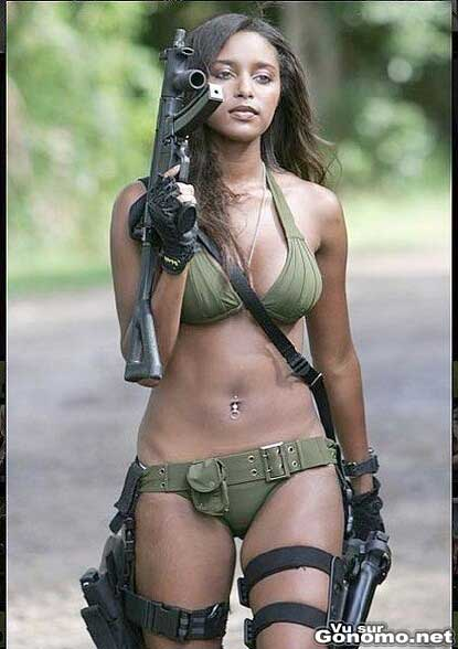 J en ai pas vu beaucoup des soldats aussi sexy