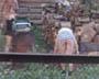 Une belle vue sur les fesses de la voisine qui coupe du bois dans son jardin sans culotte