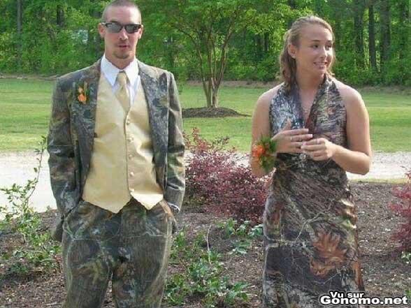 Mariage original : dress code camouflage de l armee pour ce mariage