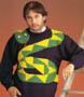 Vetement de geek : un magnifique pull over bien kitch avec son serpent jaune et vert