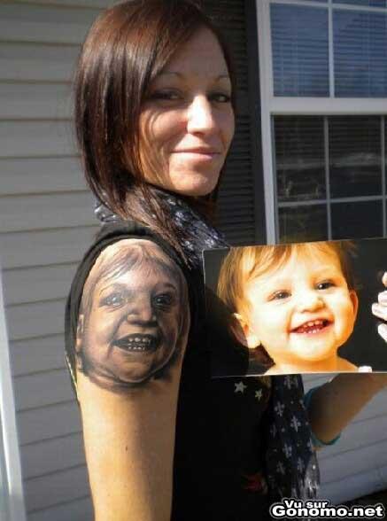 Tatouage portrait des ses enfants photos et modles de tatouages